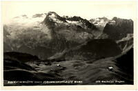 Biberacher Hütte Vorarlberg AK 1952 gelaufen Blick gegen Johanneskopf Rote Wand