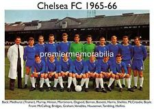 CHELSEA FC 1965-66 PETER BONETTI PETER OSGOOD & HOUSEMAN BOBBY TAMBLING A4 PRINT