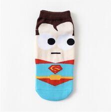 Superhero Cartoon Superman Ankle Socks Size 35-42 (UK Seller, Fast&Free Postage)