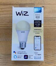 WiZ WiFi Smart Bulb A19 60W-White-Excellent