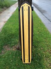 """Longboard made of Solid Wood - """"Corona del Mar"""" with exotic woods"""