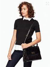 KATE SPADE Knightsbridge Ostrich Doris Satchel / Shoulder Handbag-NWT Black
