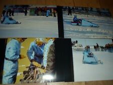 Vintage Snowmobile Polaris X-2 Sled Speed Run Drag Race Pictures LOT of 4