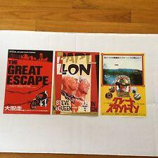 Steve McQueen The great escape papillon REYNOLDS MOVIE JAPAN promo poster flyer