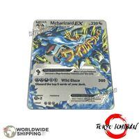 Carte Pokemon Mega Dracaufeu 108/106 EX - Fan Made Metal Silver Charizard Card