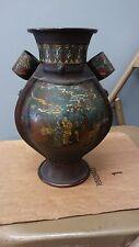 China antique Color cloisonne ladies pattern copper metal vase ladies pattern