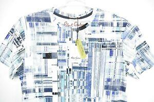 Robert Graham Men's Argonne Camo Print White Blue Short Sleeve T-Shirt Size M