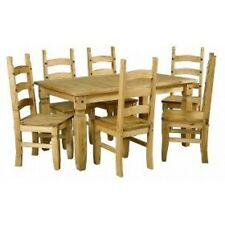 Mercers Furniture® Corona Mexican Pine Large Extending Dining Table and 6 Chairs
