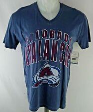 Colorado Avalanche NHL Men's V-Neck Short Sleeve Distressed Graphic Shirt