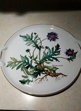 "Villeroy Boch Botanica Plate Knautia Arvensis 11.5"" Handled Cake Plate"
