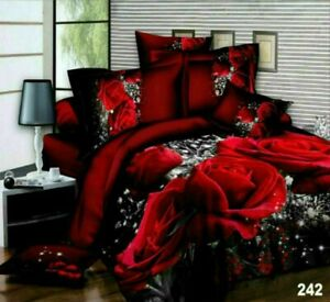 3D Duvet Set With Quilt Cover, Fitted Sheet & Pillowcases Single Double King 242