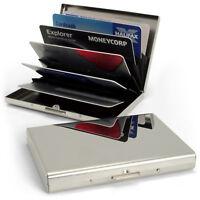 Porta Carte di Credito in Acciaio Biglietti da Visita Portafoglio Wallet Rigida