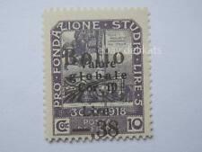 VECCHIA MARCA DA BOLLO posta Fiume 1918 SOVRASTAMPA lire 5  38