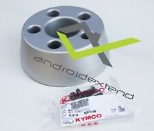 KYMCO XCITING 250/300/500 MUFFLER EXHAUST REAR HEAT COVER (SILVER)