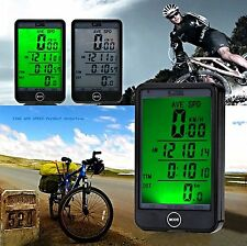 LCD WATERPROOF WIRELESS CYCLE BIKE BICYCLE COMPUTER SPEEDOMETER SPEEDOTOUCH NEW