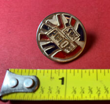 Vintage 1980s Sex Pistols Round 1� Enameled Lapel Tack Pin British Flag 80s
