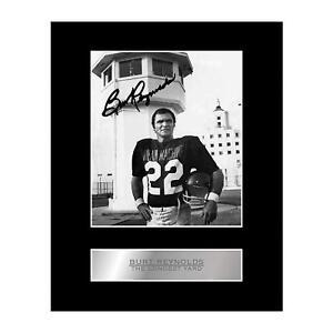 Burt Reynolds Signed Mounted Photo Display The Longest Yard