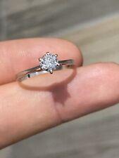 Bague Alliance Anneaux Jonc En Or Jaune 14k 585 Solitaire Diamants 💎 T55