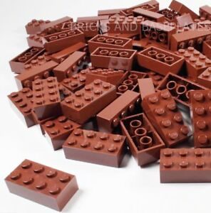 LEGO BRICKS 50 x BROWN 2x4 Pin - From Brand New Sets Sent in a Clear Sealed Bag