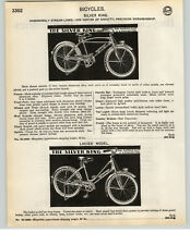 1935 PAPER AD 3 PG The Silver King Deluxe Balloon Tire Motorbike Bicycle