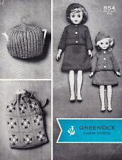 """VINTAGE~FASHION DOLLS CLOTHES~COSY~DK  KNITTING PATTERN~SIZE HEIGHT 15-18"""" (B62)"""