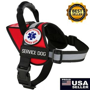 Service Dog Harness K9 Vest Patches ADA Reflective Waterproof ALL ACCESS CANINE™