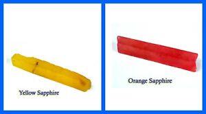 Orange & Yellow Sapphire 120 Ct+ Gemstone Slice Rough Natural Pair Discount Sale