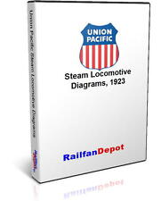 Union Pacific 1923 Steam Locomotive Diagrams - PDF on CD - RailfanDepot