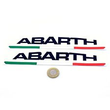 Fiat Abarth Text STICKERS Vinyl Decal Car 200mm Race Racing Rally Fiat 500