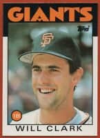 1986 Topps Traded #24T Will Clark Rookie RC MINT Set Break San Francisco Giants