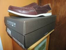 Mens Florsheim Riptide Shoes 10.5 M slip on loafers nearly new brown boat casual