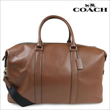 NWT Coach F54802 Duffle 52 Explorer in Leather. Dark Saddle MSRP $795.00