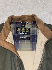 Barbour Mens Admirality Lightweight 4oz Jacket Olive Green Mens Size L