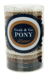 L. Erickson Grab and Go Pony Tube Hair Ties in Neutral - NEW