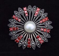 Brooch/Pin Marcasite Sterling Silver Vintage & Antique Jewellery