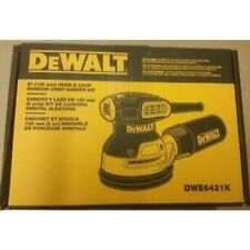 "NEW DEWALT DWE6421K 5"" ELECTRIC 3.0 AMP RANDOM ORBITAL PALM SANDER KIT WITH BAG"