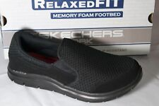 77165 Black Skechers shoe Work Safety Men Slip Resistant Slipon Vegan Light Soft