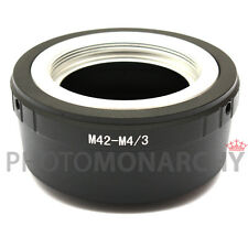 Anello adattatore OBIETTIVO M42 su MICRO 4/3 Panasonic Lumix DMC G1 G2 G3 G5 G6