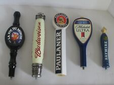 LOT of 5 BEER TAP HANDLES BUDWEISER, ULTRA, HAYWIRE+ +