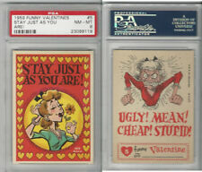 1959 Topps, Funny Valentines, #5 Stay Just As You Are!, PSA 8 NMMT