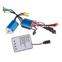 2435 4500KV Sensorless Brushless Motor+25A ESC+LED Card for 1/16 1/18 RC Car