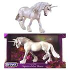 Breyer Traditional Xavier 8-inch Unicorn Horse Toy Model in Silver, 1771 New