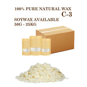 50G-25KG Wax Soy Soya Flakes Pure Clean Burning Natural Smooth Candle Making Wax
