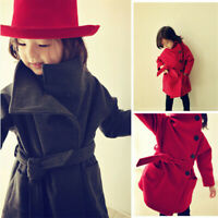 Toddler Kid Girls Long Sleeve wind Coat Winter Warm Jacket Outerwear Clothes