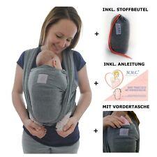 Babytragetuch mit Vordertasche, Baby Wrap Carrier Tasche und Anleitung Tragetuch