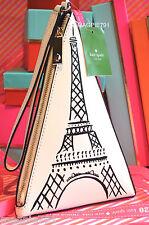 NWT Kate Spade Eiffel Tower Paris France Triangle Wristlet Clutch Purse FRENCH!