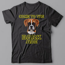BOXER dog T-shirt COME TO THE BARK SIDE - dark side we have cookies