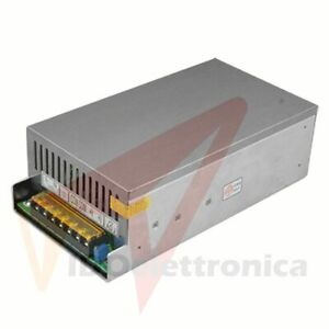 ALIMENTATORE STABILIZZATO SWITCH TRIMMER 220V 12V 50A.