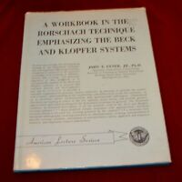 A WORKBOOK IN THE RORSCHACH TECHNIQUE- BY J. EXNER, JR -1966 - Hardcover dj