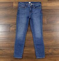 J Crew Womens Size 27 Medium Wash Miller Skinny Denim Jeans